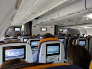 Warten auf den Start des Flugzeugs