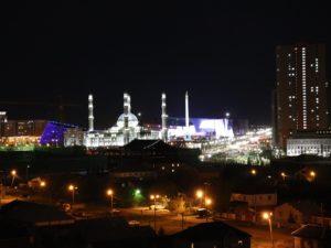 Beleuchtete Moschee